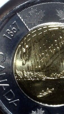Canada 2017 Dance of the Spirits Toonie *Die Chips Error* From Mint Roll!!