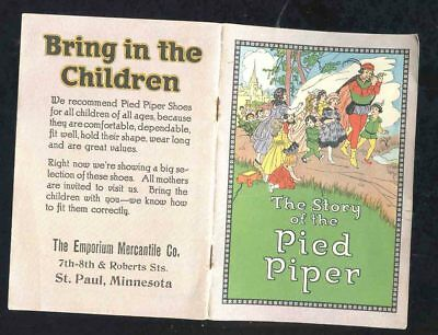 Advertising Booklet The Story of the Pied Piper & The Story of Pied Piper Shoes