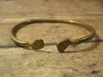 Vintage Rare Brass AFRICAN NUBIAN EGYPTIAN QUEEN Bangle Bracelet Fashion Jewelry
