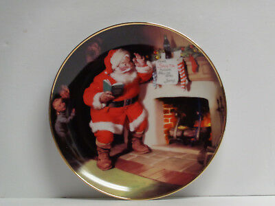 Coca-Cola 1993 The Pause That Refreshes Collector Plate Franklin Mint Free Ship