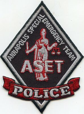 ANNAPOLIS MARYLAND MD SPECIAL EMERGENCY TEAM SWAT subdued POLICE PATCH