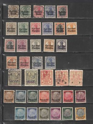 oldhal-Poland-German Occupation Stamps from WW1 & WW2