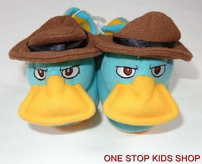 PERRY THE PLATYPUS 5 6 Shoes SOCK TOP SLIPPERS Phineas and Ferb