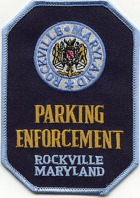 ROCKVILLE MARYLAND MD Parking Enforcement POLICE PATCH