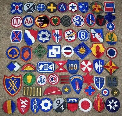 Huge Lot Of 129 Original Cut-Edge U.s. Military Patches, Ww2 Thru Korea (7 Glow)