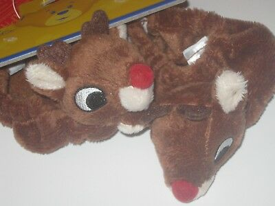 BUILD-A-BEAR Accessory RUDOLPH THE RED NOSED REINDEER SLIPPERS Christmas