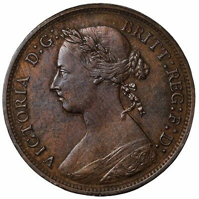 1882-H Great Britain Halfpenny KM#754 Queen Victoria Coin 1/2 Penny