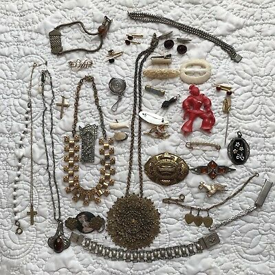 Lot Of Antique Victorian Art Deco Nouveau Jewelry