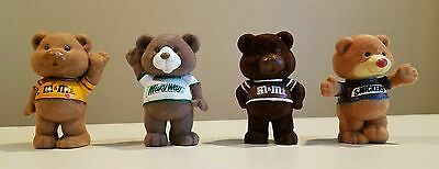 M&M SET snickers milky way peanut chocolate teddy bear figure flocked pvc chum