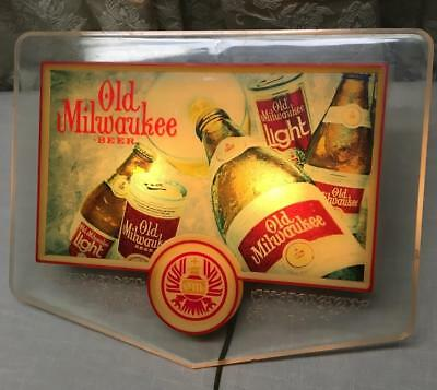 """Vintage Old Milwaukee Beer Light Up Advertising Sign 17"""" X 14"""""""