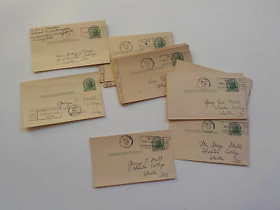 18 WWII Letters Navy Serviceman George Mell Wheaton College Illinois Lot VTG WW2