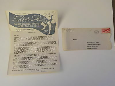 WWII Letter 1943 Jewish Monogram Pictures Presents Silver Skates Illustrated WW2