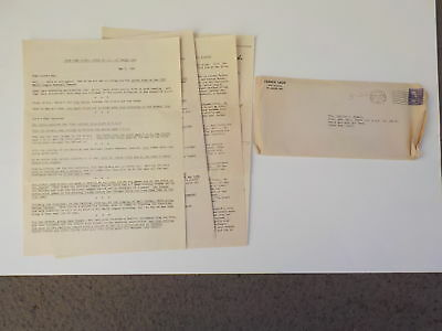 WWII Letter 1944 Jewish Soldier St. Louis Cardinals Stan Musial WW II VTG WW2