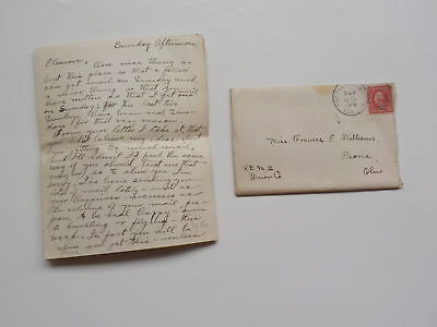 WWI Letter 1917 Funeral For Prisoners Who Died WW I VTG Old War Peoria Ohio WW1