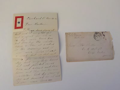 WWI Letter 1918 Burning Kaiser Fireworks Camp Custer Michigan 10th Infantry WW1
