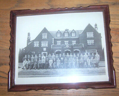 VINTAGE Sigma Nu fraternity framed group photo, 1943 Oklahoma A&M College OLD