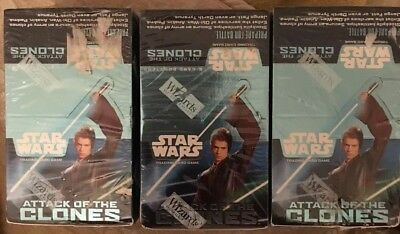Star Wars Attack Of The Clones Booster Packs, x 108 5-card Boosters, CCG, TCG