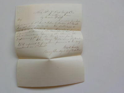 Civil War Letter Headquarters 2nd Michigan Cavalry Franklin Tennessee Antique 1
