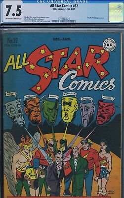 ALL STAR COMICS #32 - CGC - JSA vs Psycho Pirate - High grade!