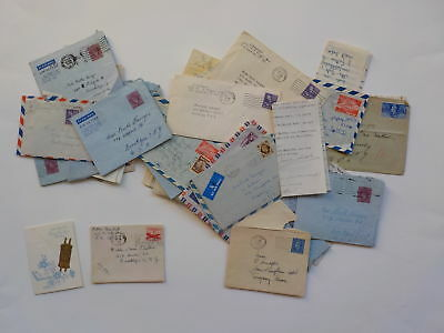 25 Old Letters 1940s-50s Jewish Woman New Years Card Collection VTG Lot Papers N