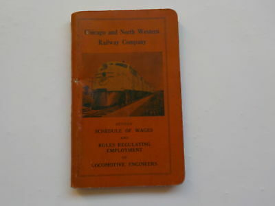 Booklet 1942 Chicago & Northwestern Railway Co. Schedule Of Wages Book VTG Old N