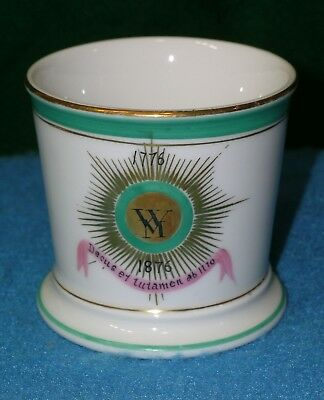 1776 1876 CENTENNIAL * MARTHA WASHINGTON SHAVING MUG White House Pattern