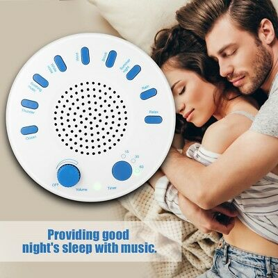 White Noise Therapy Sound Sleep Soothing Relax Machine 10 Nature Sounds Sleep