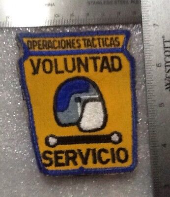 Puerto Rico State Police Tactical Ops Riot Control Unit Back Hook Attachment