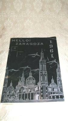 1961 ZARAGOZA SPAIN SOUVENIR TRAVEL BOOKLET OUR LADY of the PILAR ~USAF AIR BASE
