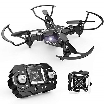 TENKER Mini RC Drone for Kids, Portable Pocket Quadcopter with Altitude Hold &