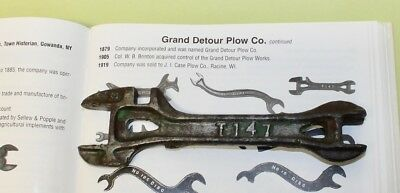 "Vintage GRAND DETOUR PLOW Co. ""T147"" Farm Tractor Implement Wrench / $5 to Ship"