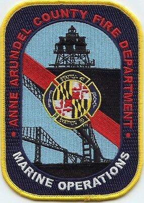ANNE ARUNDEL COUNTY MARYLAND MD Water Patrol MARINE OPERATIONS FIRE PATCH