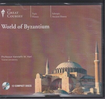 WORLD OF BYZANTIUM by THE GREAT COURSES CD's~12 CD'S 24 LECTURES +PDF GUIDE