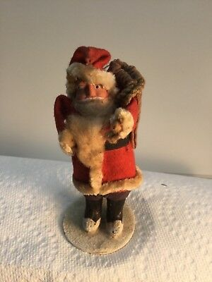 Antique Vintage Occupied Japan 5 Inch Composite Face Putz Santa Claus