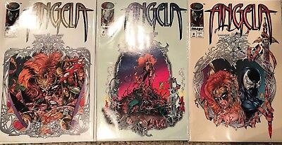 (1994) ANGELA #1 2 3 Complete Set! Spawn X-over! NEAL GAIMAN! GREG CAPULLO!