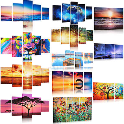 Art Modern Abstract Painting Canvas Picture Print Wall Hangings Decor NO