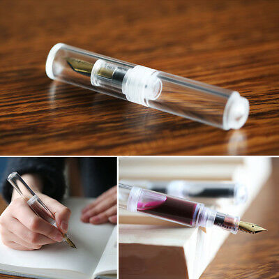 Moonman Wancai Mini Ink Sac Transparent Fountain Pen Clear Fine Nib 0.5mm