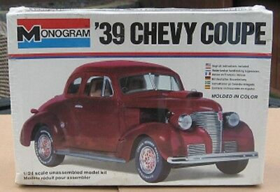 MONOGRAM '39 CHEVY COUPE  1:24 Scale  Model Kit  New & Sealed in Box
