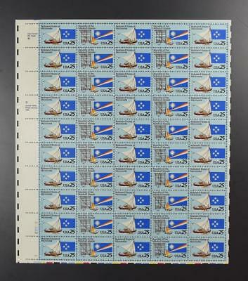 Us Scott 2506 - 2507 Sheet Of 50 Micronesia Marshall Isl Stamps 25 Cent Face Mnh