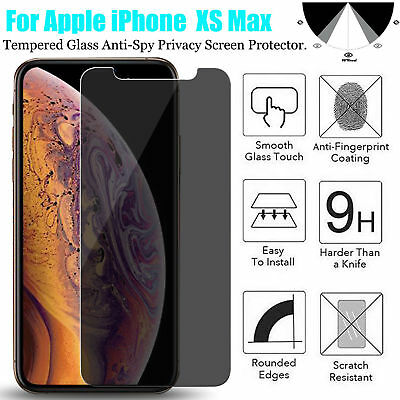 For iPhone  XS XR XS Max Privacy Anti-Spy Tempered Glass Screen Protector