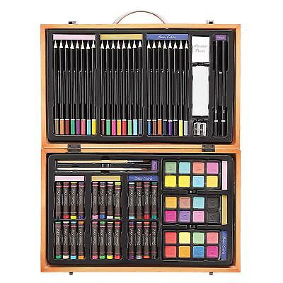Darice 80-Piece Deluxe Art Set – Art Supplies for Drawing, Painting and More in