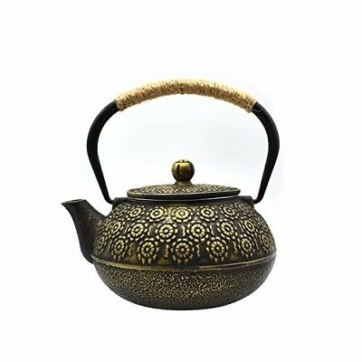 JINGYAT Cast Iron Teapot (30 Oz) Japanese Tetsubin Tea Kettle Durable Cast Iron