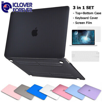 "For 2018 Macbook AIR 13"" A1932 Rubberized Hard Case Keyboard Cover Screen Film"