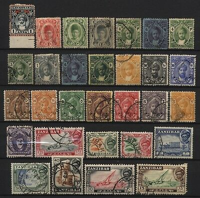 Zanzibar Collection 30 Stamps Used