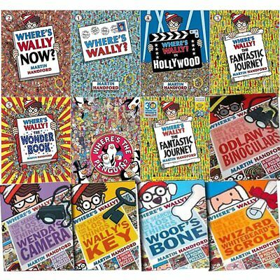 Where's Wally Now Collection 11 Books Set Fantastic Journey and Hollywood NEW