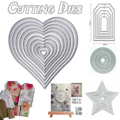 All Types Stitch heart nesting die set metal cutting dies Stencil Embossing DIY