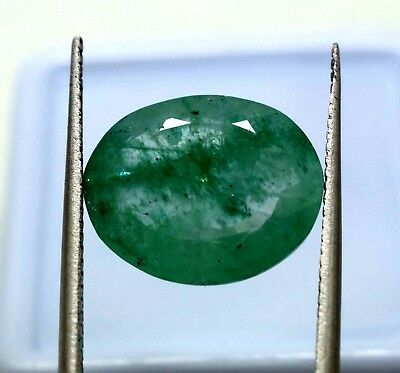 Ggl Certified 5.50 Ct Natural Oval Cut Vivid Green Emerald Panna Gemstone