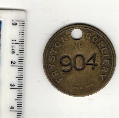 LOT.2. Miners colliery pit. FRYSTON BRASS CHECK