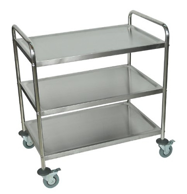 Plutus Brands Stainless Steel Utility Cart, 34 H x 22 W x 17 D Inches LF00033