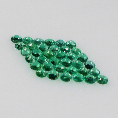 4 CT Natural Emerald Round 2.5 MM ~ AAA GRADE Machine cut ~ BLACK FRIDAY SALE